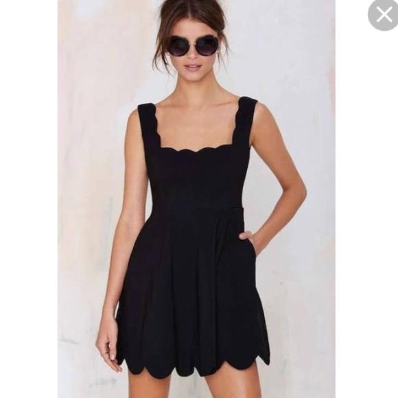 Nasty Gal Dresses Black Scalloped Dress Never Worn Poshmark